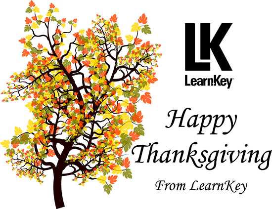 Happy Thanksgiving from LearnKey